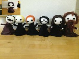 Harry Potter Puppets by StarryLion