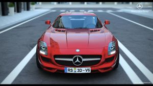 Mercedes SLS AMG 2011 by FiLiPpO92