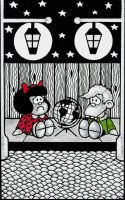 Mafalda and Felipe by LoxiasPhoebus