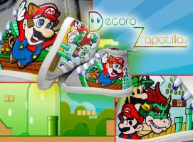 Super Mario shoes by Raw-J