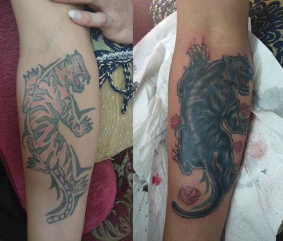 Tiger coverup for Emil by Kulot