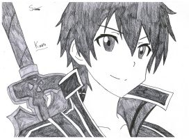 Kirito - Sword art online by Stades-Drawing