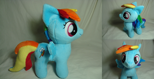 Rainbow Dash filly w/cutie mark by PlanetPlush