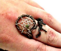 Dream Catcher Ring by mousiedragon
