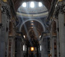 San Pietro Basilica - Interior by Unrealize