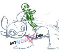 Hiccup and Toothless - WIP by The-Ez
