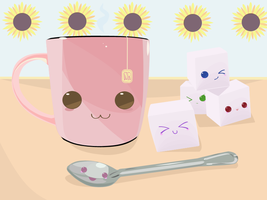 Happy Morning Tea and Sugar by butterxscotch