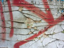 Sprayed paint on old cracked paint by Indeed-Aldiss
