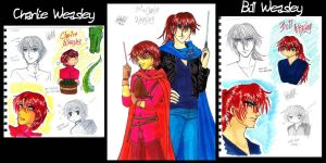 The 2 Weasleys sketch by cyberhell