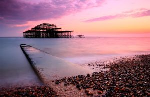 West Pier at Sunset HDR by albinoeatpod