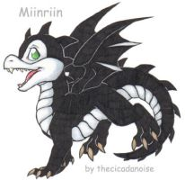 Miinriin as a Skunk Scorchio by CicadaNoise