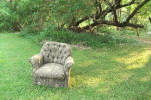 Chair in the Woods by TheoGothStock