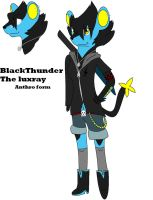 BlackThunder the Luxray-REF 2 by MimiWolf1999