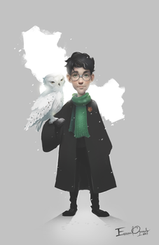 Harry and Hedwig by Emmanuel-Oquendo