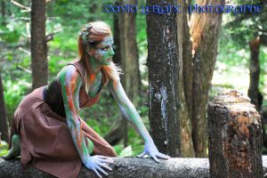 Wood elf_blend in with nature by Maiwen