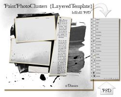 PaintPhotoClusters LayeredTemplate by Diamara