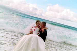 Beach Wedding by eviedmoore