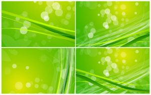 Abstract-Green-Nature-Background-Vector-Set by vectorbackgrounds