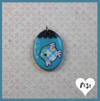 Oval Fishbowl Charm by Vixie-Bee
