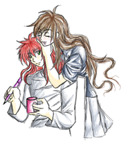 Kurama and Rose by hiei14