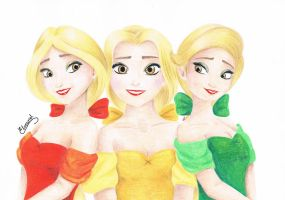 Beauty and the Beast The Bimbettes - Frozen style by Elveariel