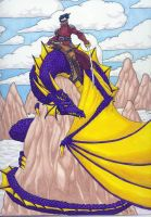 Dragon and Rider by vermithrax40