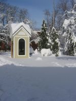 Little house in winter by CotyStock