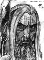 Saruman Sketch by Kenpudiosaki