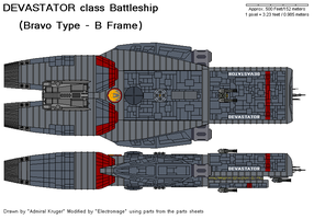 Devastator class Battleship by The-Electromage