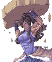 Commission: Korra by ItsJustSuppi