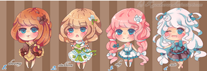 Cute Adoptables Set 1 *CLOSE* by KyouKaraa