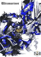Space Marine Ultramarines by Sapiains