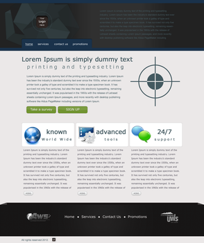 Business Website layout by lougie24