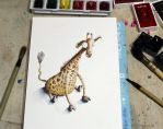 A smart Giraffe! by francescomonk