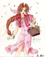 Aerith the Flower Girl by ArchaicGraffiti