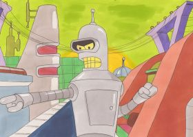 Bender Futurama by silverben