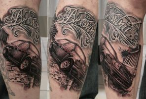 Chicano Tuning Car BG TaT by 2Face-Tattoo