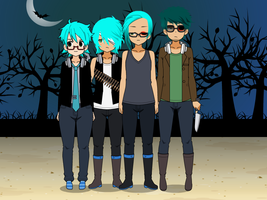 Phases of {The blue haired serial killer} by NuclearJoji