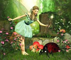 A Faerie's Flourish by RavenMoonDesigns