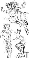 Peter Pan doodles by winderly