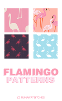 Flamingo patterns by runawaybitches