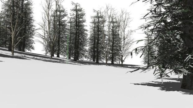 [MMD] Winter woods stage (DL Link) by Riveda1972
