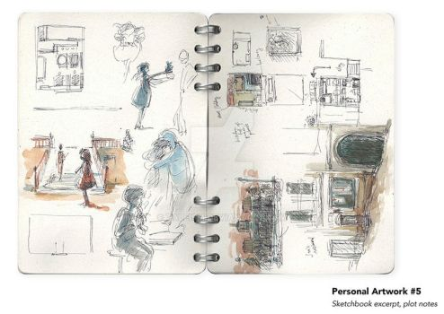 Sheridan Animation Portfolio Sketchbook Excerpt #2 by taleism