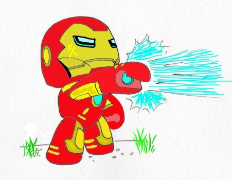 IronMan cute doodle Improved by Kablinx