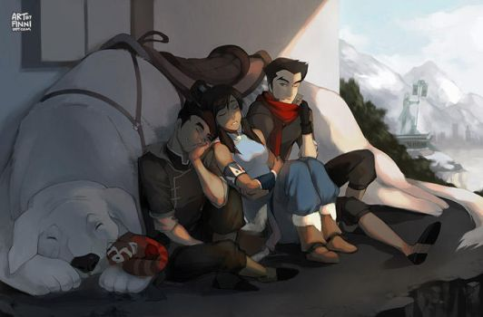 Legend of Korra -- A Quiet Afternoon by finni