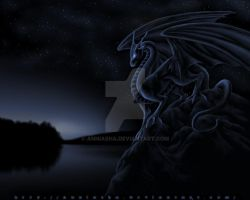 Midnight Dragon by Anniasha