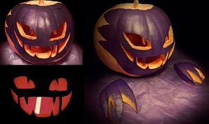 Haunter Pumpkin by MachineGun-Baby
