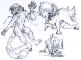 Monster Sketches by skulldog