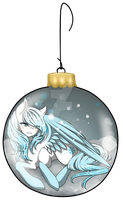 Ornament Ponies: Snowy Breeze by MagicaRin