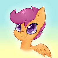 Scootaloo Chibi Headshot by AcrylliaV